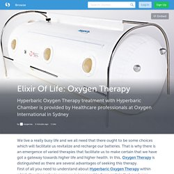 Elixir Of Life: Oxygen Therapy (with images) · oxygenau