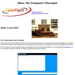Eliza, Computer Therapist