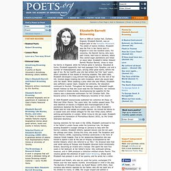 A life history of elizabeth barret an english poet of the romantic movement