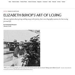 Elizabeth Bishop's Art of Losing