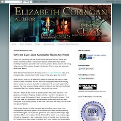 Elizabeth Corrigan: Why the Ever, Jane Kickstarter Rocks My World
