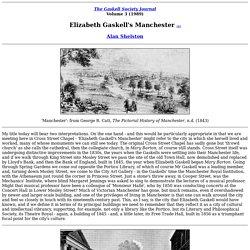 Elizabeth Gaskell's Manchester
