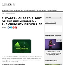Elizabeth Gilbert: Flight of the Hummingbird - The Curiosity Driven Life - SuperSoul.tv