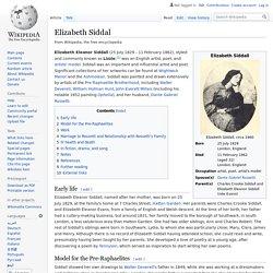 Elizabeth Siddal - Wikipedia