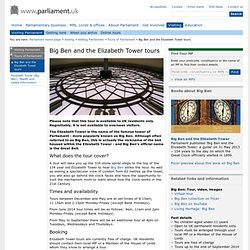 Big Ben and the Elizabeth Tower tours