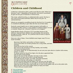 Life in Elizabethan England 40: Children and Childhood