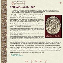 Life in Elizabethan England 88: A Midwife's Oath