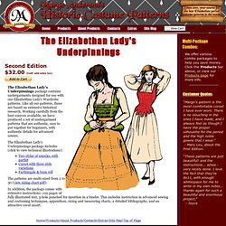 The Elizabethan Lady's Underpinnings - Margo Anderson's Historic Costume Patterns