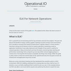 ELK For Network Operations