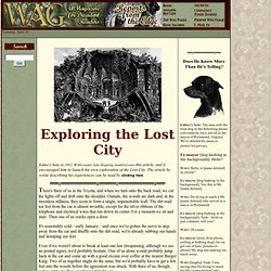 WAG: Elko Tract: Exploring the Lost City