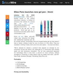 Elkos Pens launches new gel pen - Emmi