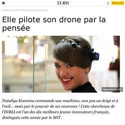 Elle pilote son drone par la pensée