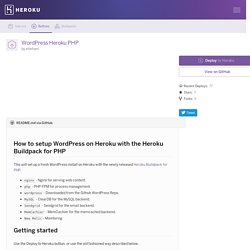 ellefsen/wordpress-heroku-php - Buttons - Heroku Elements