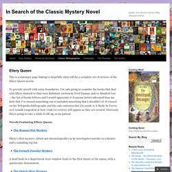 In Search of the Classic Mystery Novel