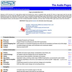 Elliott Sound Products - The Audio Pages (Main Index)