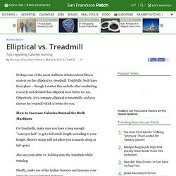 Elliptical vs. Treadmill - San Francisco, CA Patch