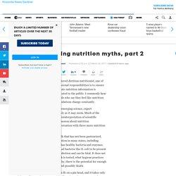 Ellison: Debunking nutrition myths, part 2