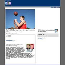 elllo #311 Aussie Sports