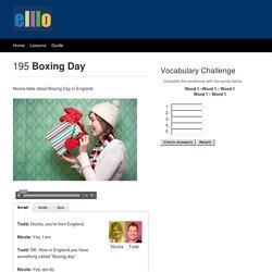 ELLLO Views #195 Boxing Day
