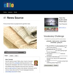 ELLLO Views #41 News Source