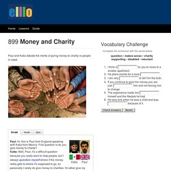 elllo #899 Money and Charity