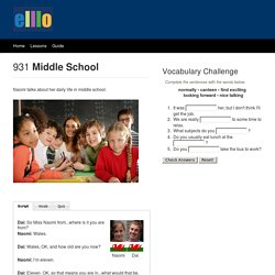 ELLLO Views #931 Middle School