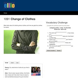 ELLLO Views #1091 Change of Clothes