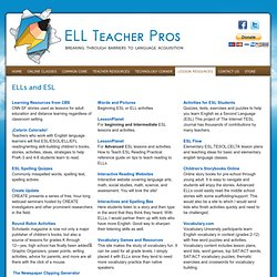 ELLs and ESL - ELL Teacher Pros