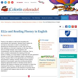 ELLs and Reading Fluency in English