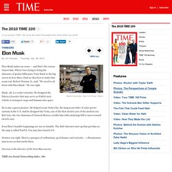 Elon Musk - The 2010 TIME 100