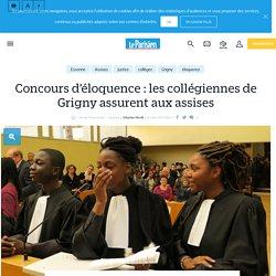Concours d'éloquence : les collégiennes de grigny assurent aux assises