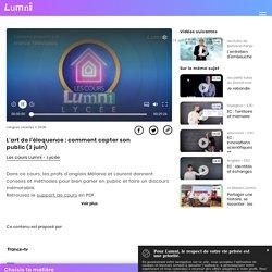 L'art de l'éloquence : comment capter son public (3 juin) - Vidéo Langues vivantes