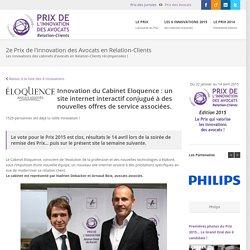Cabinet Eloquence : un site internet interactif conjugué à des nouvelles (...)