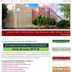 elorientablog: Documentos para el profesorado: septiembre 2015
