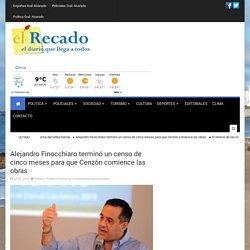 Alejandro Finocchiaro terminó un censo de cinco meses para que Cenzón comience las obras