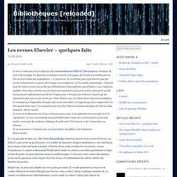 Les revues Elsevier – quelques faits
