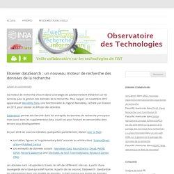 Elsevier dataSearch : un nouveau moteur de recherche des données de la recherche