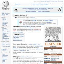 Elsevier (éditeur)