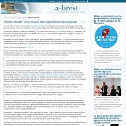 Affaire Elsevier : une réaction des négociateurs sous paywall