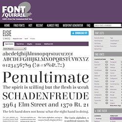 Free Font Elsie by Alejandro Inler