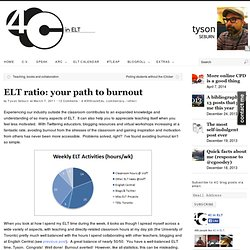 ELT ratio: your path to burnout