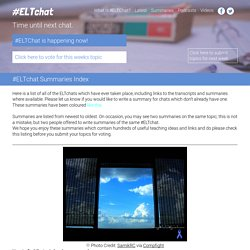 » #ELTchat Summaries Index