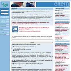 Startseite - Elternberatung der bke - Forum, Beratung (Einzelberatung und Sprechstunde), Chat (Einzelchat, Gruppenchat und Themenchat)