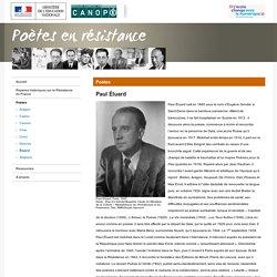 Paul Éluard-Poètes en résistance-Réseau Canopé