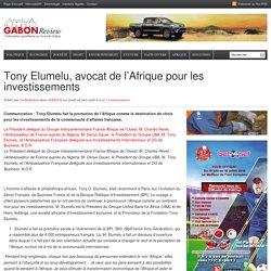 Tony Elumelu, avocat de l'Afrique pour les investissements