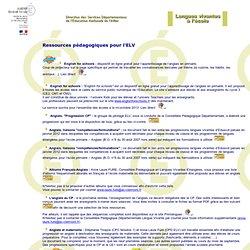 ELV : des ressources pédagogiques pour l'ELV