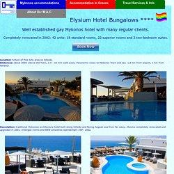 Elysium hotel Mykonos, Exclusive Gay Hotel Mykonos