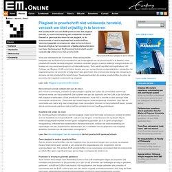 EM: Plagiaat in proefschrift niet voldoende hersteld, verzoek om titel vrijwillig in te leveren