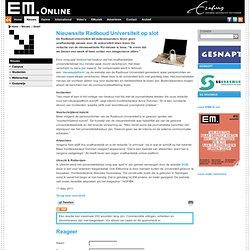 EM:Nieuwssite Radboud Universiteit op slot