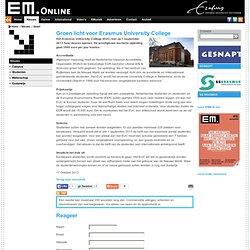 EM: Groen licht voor Erasmus University College